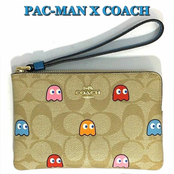 Coach Handbags - Coach Pac-Man Wristlet Bag NWT